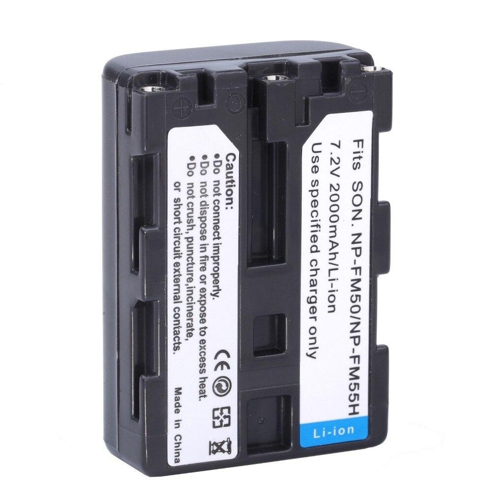 1* NP-FM50 NP FM50 FM55H Batteries Pack For Sony NP-FM51 NP-FM30 NP-FM55H DCR-PC101 A100 Series DSLR-A100