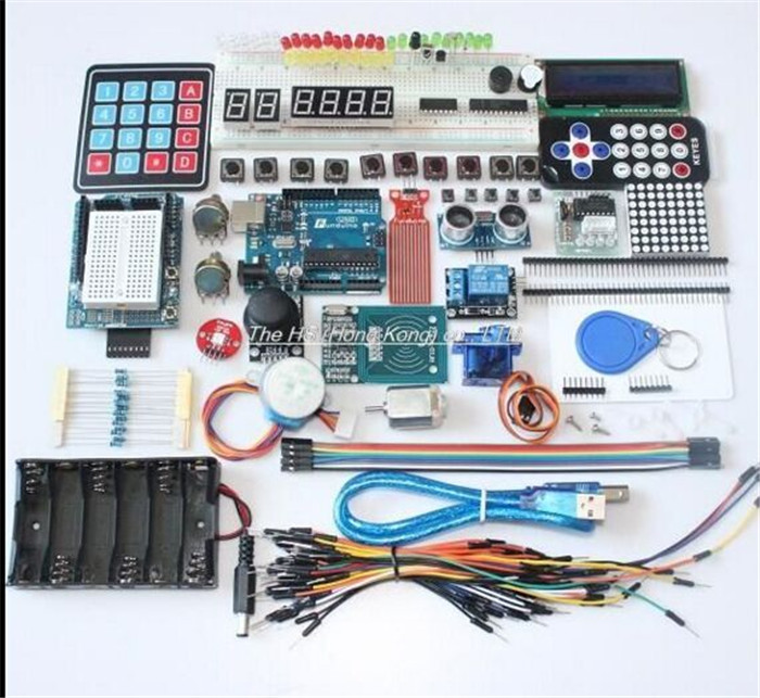 Integrated Starter Kit UNO R3 mini Breadboard LED jumper wire button for arduino kit compatile frree shipping top selling high qualiy uno r3 starter kit 1602 lcd dot matrix breadboard led resistor hot selling
