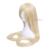 L-e-mail peruca 60 inch 150 cm Longa Reta Bege Loiro Rapunzel Tangled Cabelo Sintético Perucas Peruca Cosplay