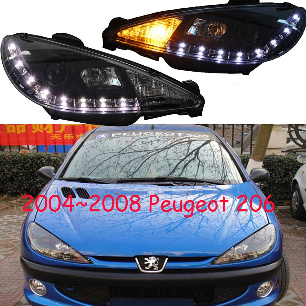 HID,2004~2008,Car Styling for Peugeo 206 Headlight,insight,206 207 308 3008 408 4008 508 Raid RCZ,Partner,206 head lamp