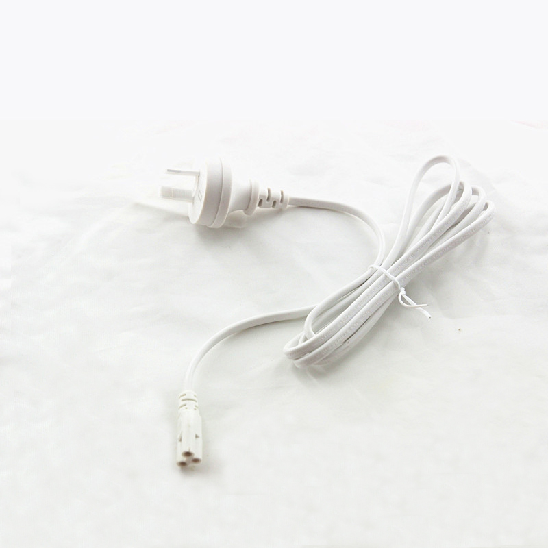50pcs/lot 1.5M 3 Prong <font><b>T5</b></font> T8 LED Lamp Tube Connectors with AU <font><b>Plug</b></font> White Color Outlet Power Adapter Cord by DHL image