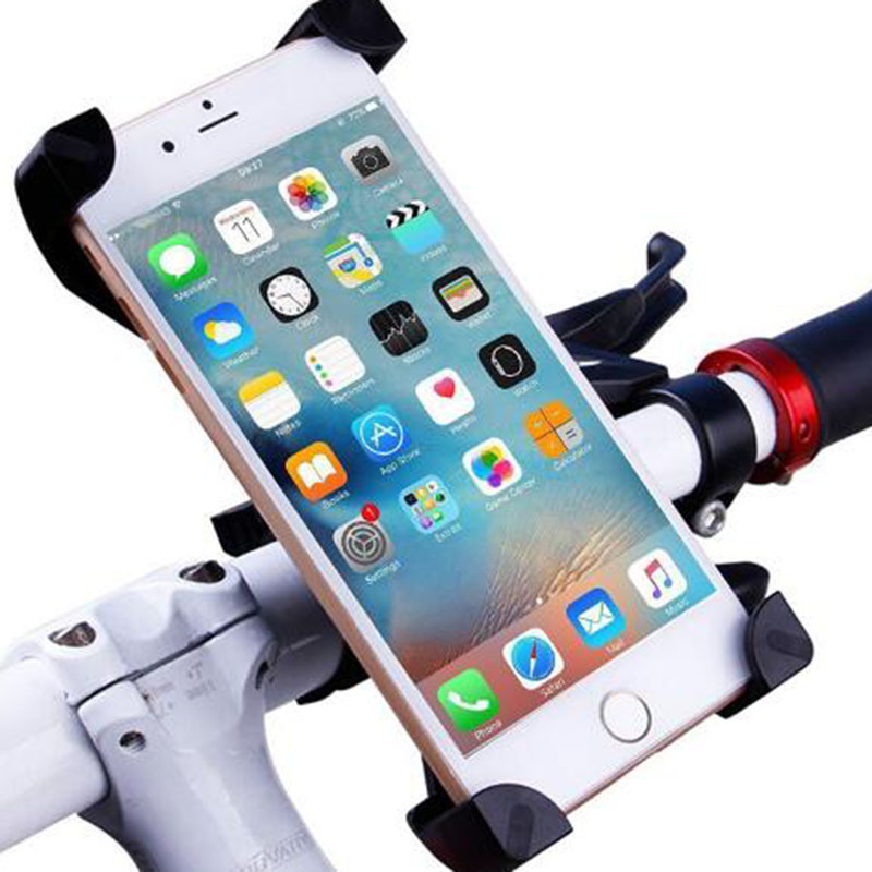 Bike Motorcycle Phone Holder 360 Rotatable Handlebar Bicycle Phone Holder Rearview Mirror Mobile Cell Phone Stand Holder