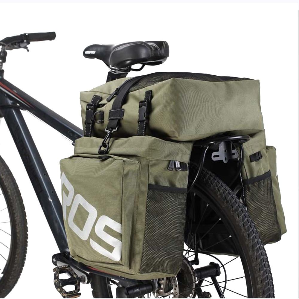 ROSWHEEL Bike Accessories 37L MTB Mountain Bike Rack Bag 3 in 1 Multifunction Road Bicycle Pannier
