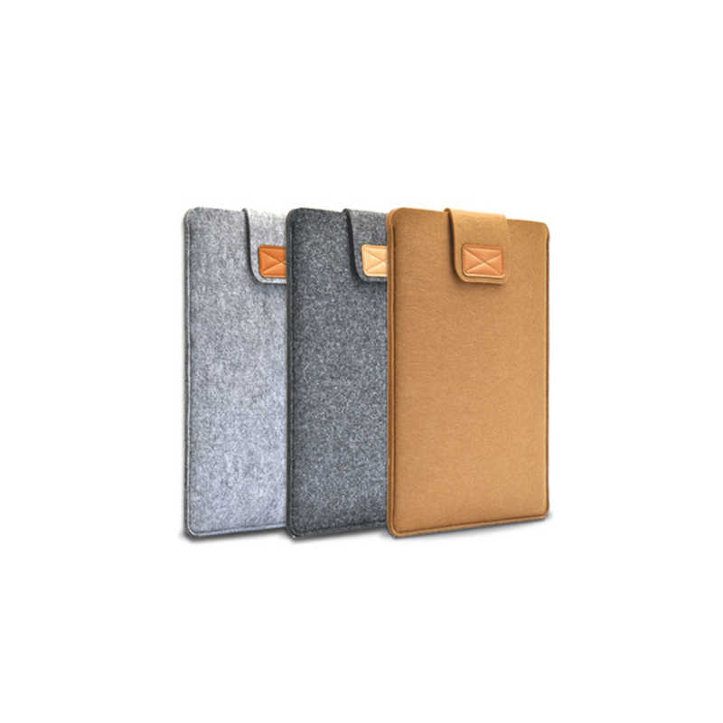 13 15 17 pulgadas de lana fieltro interior portátil manga bolsa funda con asa de transporte para Macbook Air/ pro Retina