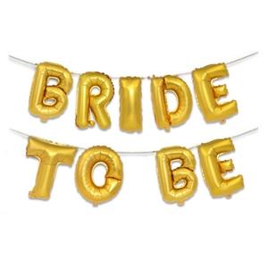 Image 5 - Ślub wieczór panieński 16 cal złoto srebro litery bride to be z balonów foliowych diamentowy pierścionek balon na wieczór panieński sprzyja dekoracji
