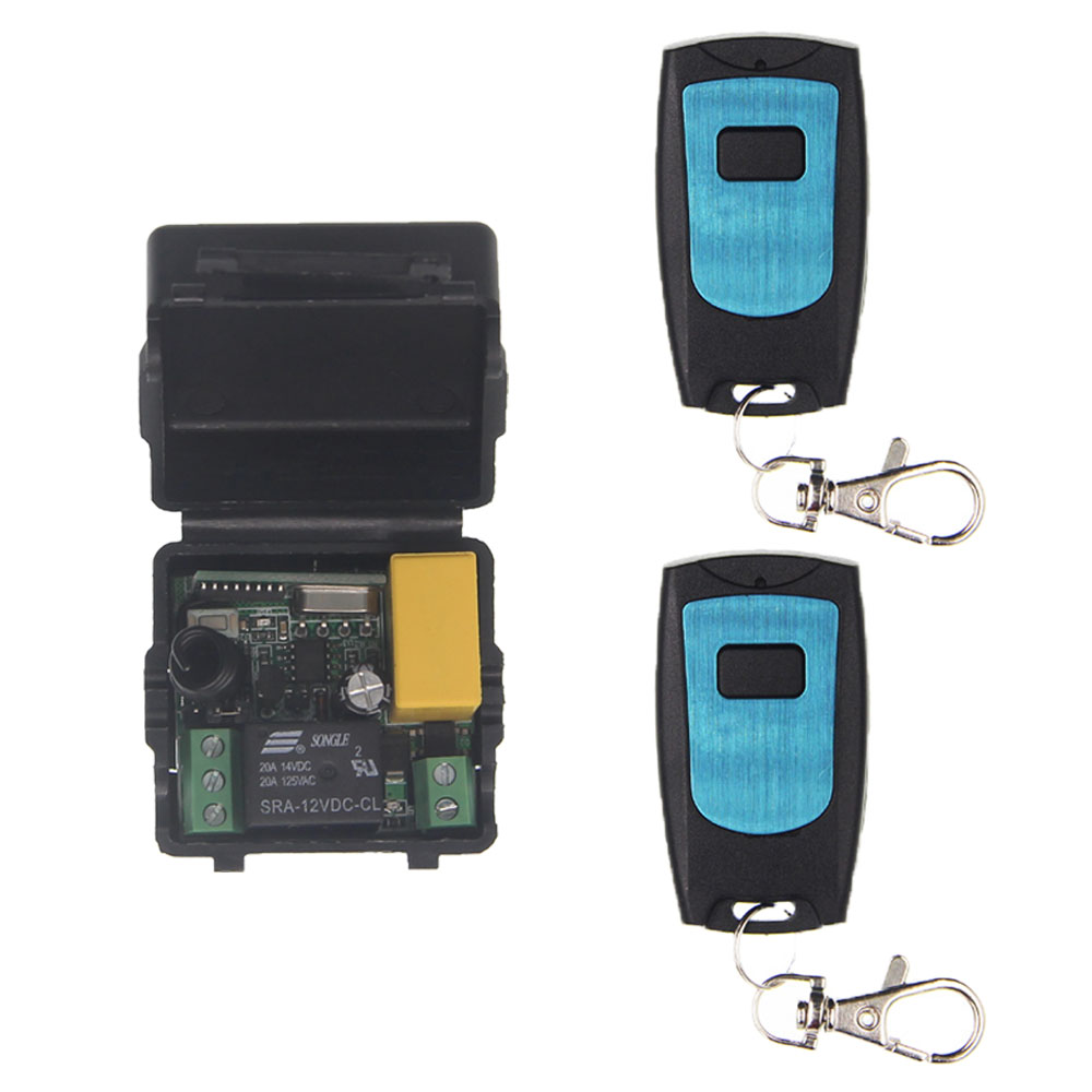Tiny Size AC 220V 1CH 1 CH 10A RF Wireless Remote Control Switch System, Receiver+ Waterproof Transmitter,315/433 MHz ac 220v 110v 1 ch 1ch rf wireless remote control switch system 3 6ch transmitter 6 receiver toggle momentary 315 433 92