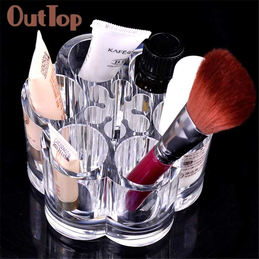 Plum Flower Clear Shaped Cosmetic Lipstick Brush Holder Makeup Case Suitable for storing cosmetics, jewelry, small debris 05.08