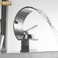 XOXO Basin Faucet Cold and Hot Water Waterfall Bathroom Faucet Single handle Basin Mixer Tap Deck Mount Torneira 21025