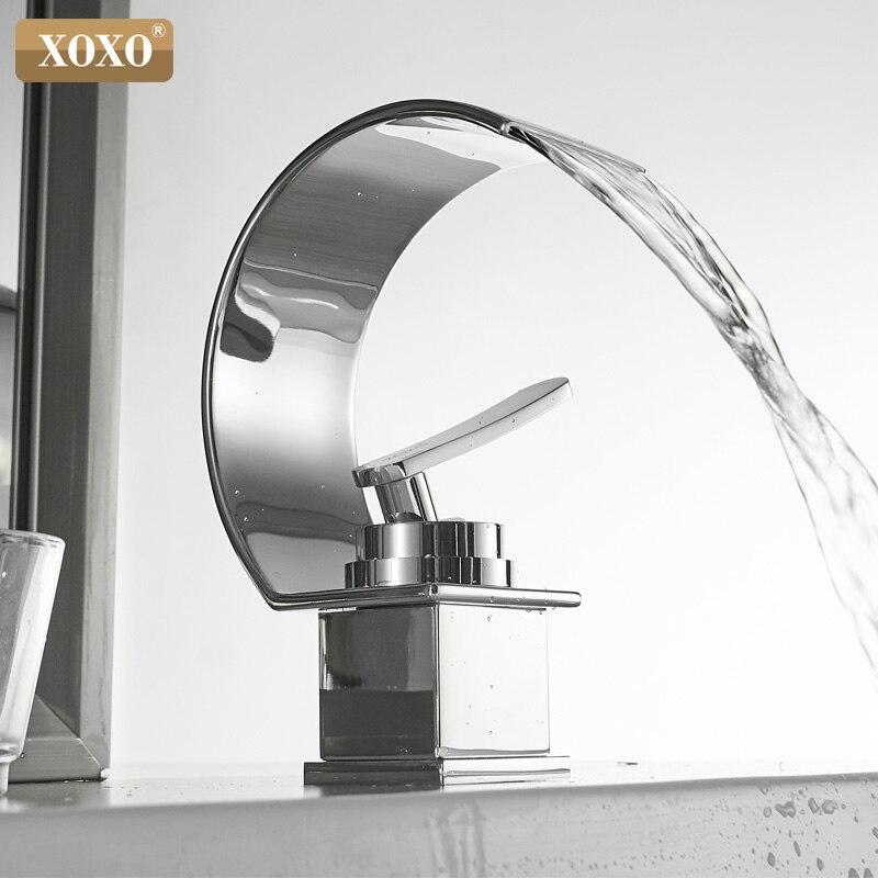 XOXO robinet de lavabo eau froide et chaude cascade salle de bain robinet mitigeur de lavabo robinet de montage de pont Torneira 21025