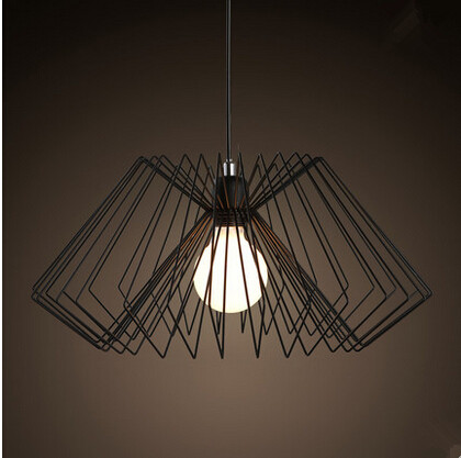 Iron Cages Modern Simple Pendant Lights Nordic Creative Fixtures For Bar Cafe Dining Home Lightings Lamparas Colgantes Lamparas new fashion modern k9 crystal led pendant lights hanglamp lustre fixtures for bar cafe dining home lightings lamparas colgantes