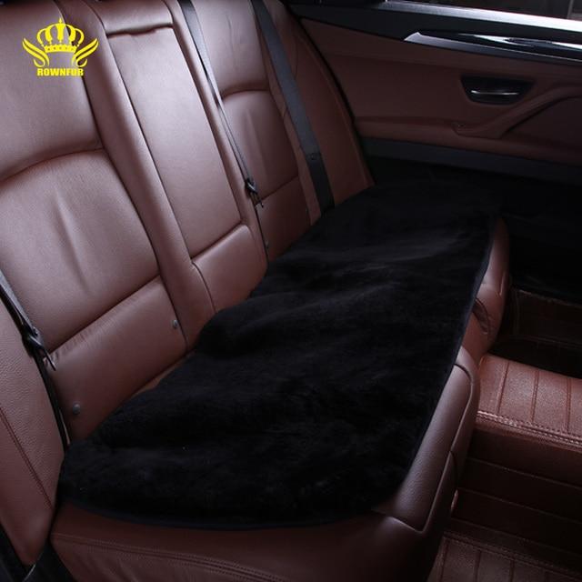 rownfur auto interieur accessoires auto stoelhoezen faux fur leuke kussen styling universele auto seat cover voor