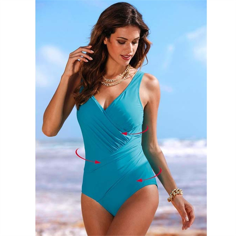 Wholesale Bikinis Beachwear Swimsuits Net Sand Siamese Sexy Beachwear Brazilian Bathing Swim Suit Bath Ms. Fat Plus Code
