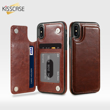 KISSCASE Retro Flip Leather Case For iPhone XS Max X 10 7 8 Plus Card Holder Vertical Wallet Case For iPhone X 5s SE XS Max 6 6s flip case for iphone 7 case wallet multi cards 360 full protect classic pu leather bags for iphone 5s se 6s 7 8 plus x xr xs max