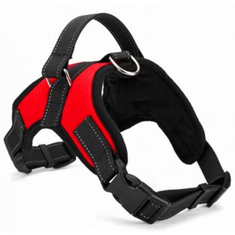 DCPET Adjustable Nylon No Dog Harness For Big Dog Large Dog