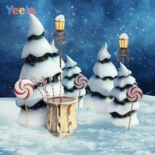 Yeele Christmas Tree Bokeh Light Candy Family Party Photography Backdrops Personalized Photographic Backgrounds For Photo Studio