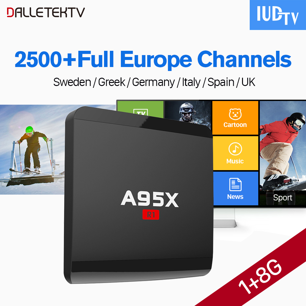 Smart 4K Android 7.1 A95X TV Box IPTV Europe Sweden Spain Italy 1 Year IUDTV IPTV Subscription Portugal French Arabic IPTV Box free italy sky french iptv box 1300 european channels iudtv european iptv box live stream sky sports turkish sweden netherland