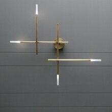 Postmodern LED living room Wall lights Nordic luxury copper lighting fixtures bedroom sconces home deco Corridor aisle wall lamp