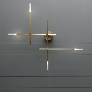 Image 1 - Postmodern LED living room Wall lights Nordic luxury copper lighting fixtures bedroom sconces home deco Corridor aisle wall lamp