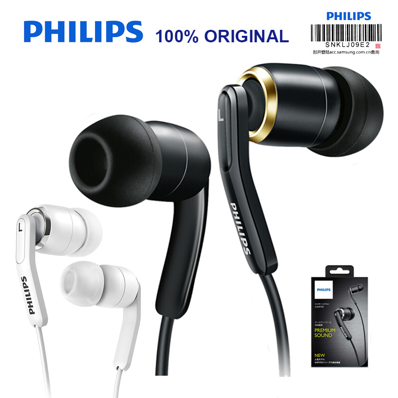 Original Philips SHE9730 HIFI Earphone with Storage Box L Bending Plug Outside Sport Headset for XiaoMi