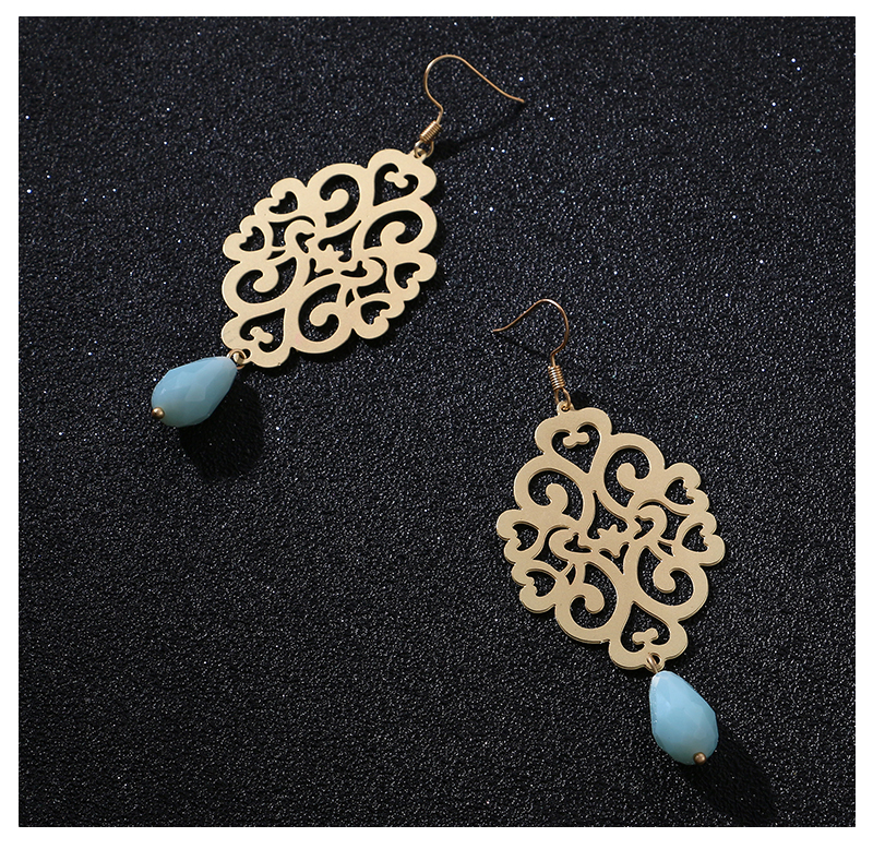 HTB1jngrsXuWBuNjSszbq6AS7FXaX - Badu Gold Drop Earring Copper Hollow Out Women Vintage Dangle Earrings Sky Blue Crystal Pendant Fashion Jewelry