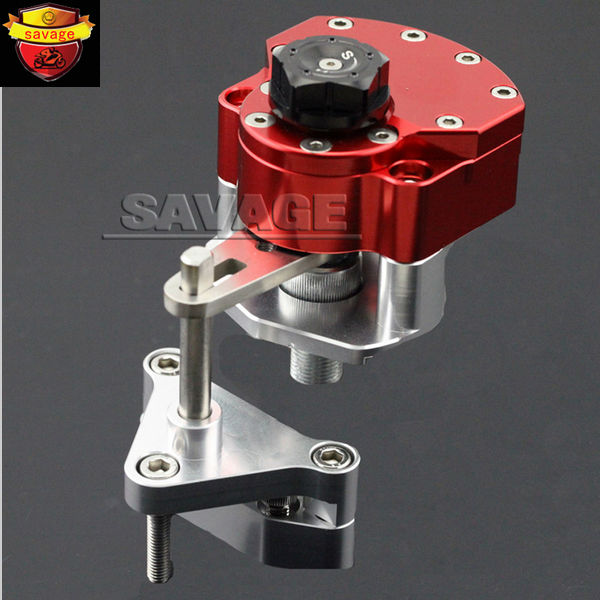 NEW For YAMAHA YZF-R25 YZF-R3 YZF R25/R3 Red Motorcycle Steering Damper Stabilizer with Mounting Bracket Kit