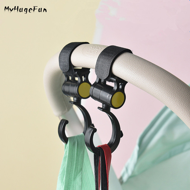 2pcs/Lot Baby Stroller Hook Bag Handle Grab Prams Car Accessories Hooks Rotate 360 Bugaboo  Stroller Hange Hook Multifunction
