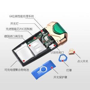 Image 4 - New USB Thunder Lighter Rechargeable Electronic Lighter Cigarette Plasma Double Arc Palse Pulse Windproof Gadgets for Men Gift
