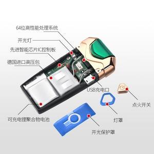 Image 4 - Nuovo USB Thunder Più Leggero Ricaricabile Accenditore Elettronico della Sigaretta Plasma Doppio Arco Palse Impulso Antivento Gadget per Gli Uomini Regalo