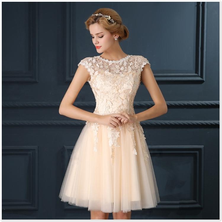 Robe De Soiree 2017 gery u collar Lace Up short evening dress abendkleider vestito da sera prom dresses party dresses 4 colors 11