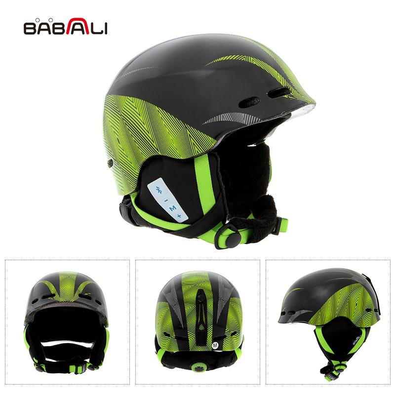 BABAALI снег шлем музыка Bluetooth шлем умный скейтборд шлем прохладный Макс подкладка Лыжный спорт шлемы