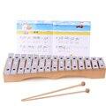 15-Note De alumínio de Madeira Xilofone Instrumento Musical Brinquedos Educativos Presente para As Crianças Do Bebê da Criança
