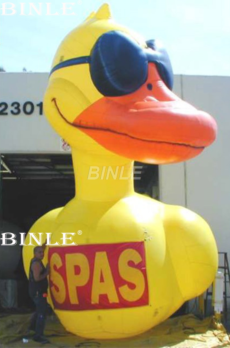 Hot sale water decorated yellow giant inflatable promotion duck with custom logo big rubber duck balloon for advertisingHot sale water decorated yellow giant inflatable promotion duck with custom logo big rubber duck balloon for advertising