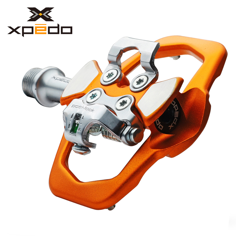Xpedo XCF12AC Ultralight 295g Mountain Bike Clipless Pedal with 3 Bearing High Strength alloy MTB bike self-locking pedals xpedo xcf12ac ultralight 295g mountain bike pedal mtb auto lock bicycle pedals 3 bearing high strength road bike lock pedals