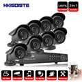HKIXDISTE système de Surveillance vidéo 8CH CCTV Kit de sécurité 8 pièces 1200TVL dôme caméra de sécurité Vision nocturne 8CH 1080 P CCTV DVR