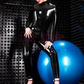 classical handmade latex jumpsuit latex garment for females