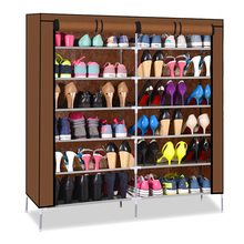 Simple shoe rack six non-woven cloth double thick reinforced dust Specials