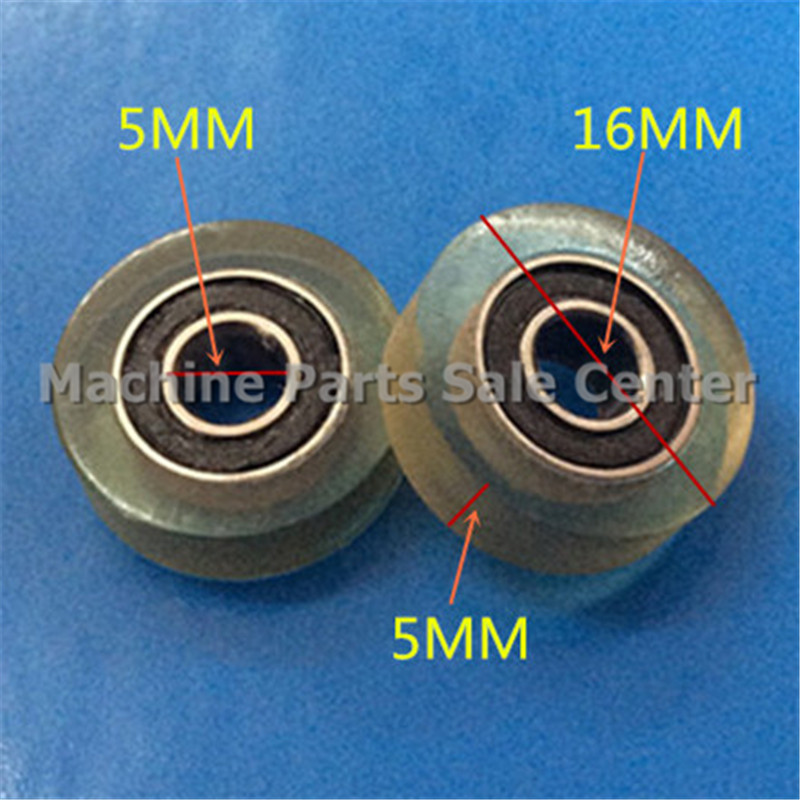 SWMAKER Free shipping F type idler pulley ball <font><b>bearings</b></font> <font><b>5*16*5</b></font> mm <font><b>bearing</b></font> 626 POM flat slide wheel Good Quality image