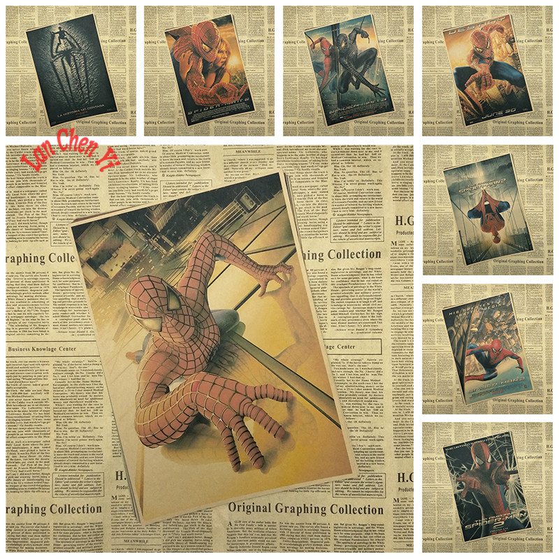 Classic Movie The Amazing Spider-Man Office Gift Room Dining Home Decor wall sticker Design