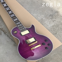 2018 New + Factory + Chibson custom shop electric guitar GB 1959 violet guitar in stock purple custom guitar with supreme inlays