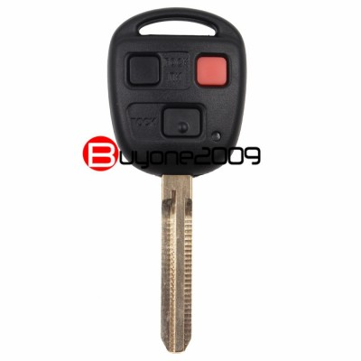KEYECU Fob Chiave A Distanza 3 Button 4C Chip per 1998-2002 Toyota Land Cruiser FCC HYQ1512V
