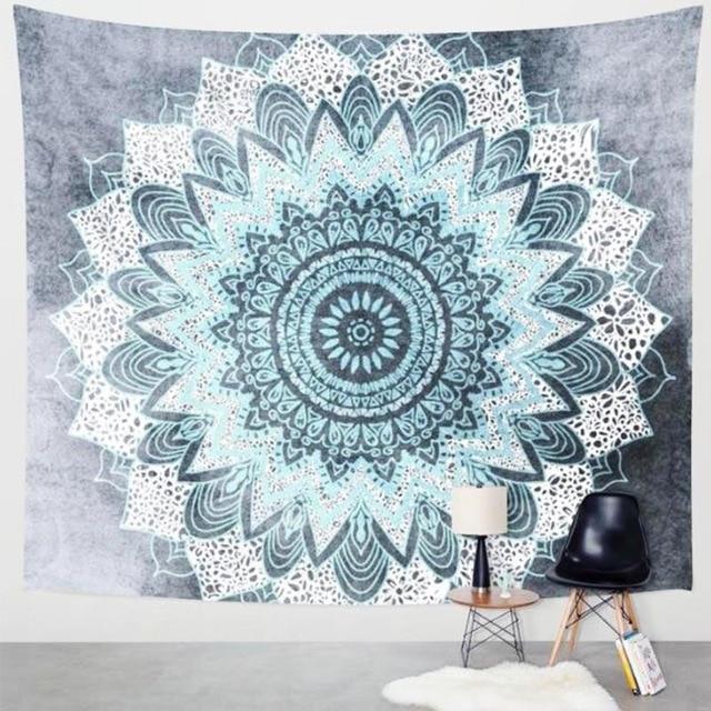 Summer Indian Mandala Flower Bohemia Tassels Tapestry Wall Hanging Beach Throw Mat Hippie Bedspread Yoga Mat Blanket
