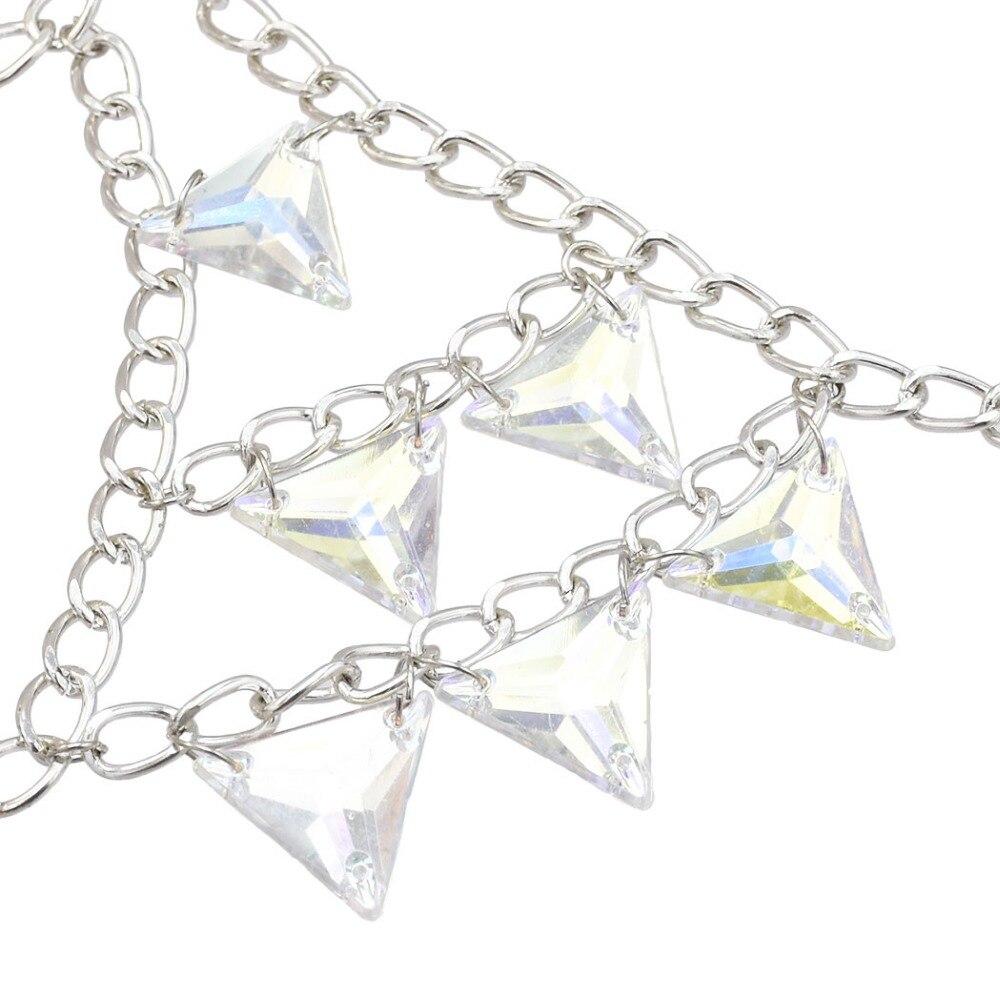 Women Sexy Bra Chain Rhinestone Crystal Long Tassel Bralette Crop Top Intimates Sexy Lingerie Harness body Chains Summer Jewelry