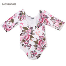 Newborn Girl Rompers Cute Floral Cotton Baby Infant Romper Hot Children Clothes Sets Long Sleeve Toddler Jumpsuit Roupas De Bebe(China)
