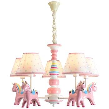 Unicorn LED Chandelier Lighting For Bedroom