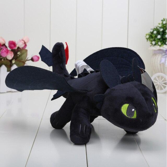 COMO TREINAR O SEU DRAGÃO Desdentado Fúria Da Noite plush Brinquedos para crianças boneca de PELÚCIA