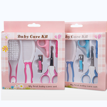 6Pcs/Set Baby Kids Toddler Healthcare Kits Grooming Care Nail Hair Care Set Nail Clipper Hair Comb Nail Scissor P15