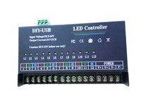 USB DIY LED RGB Controller 12 Channel Programmable Controller 5A*12CH;12Channels for 3528&5050 RGB strip Module DC5V DC12v DC24V