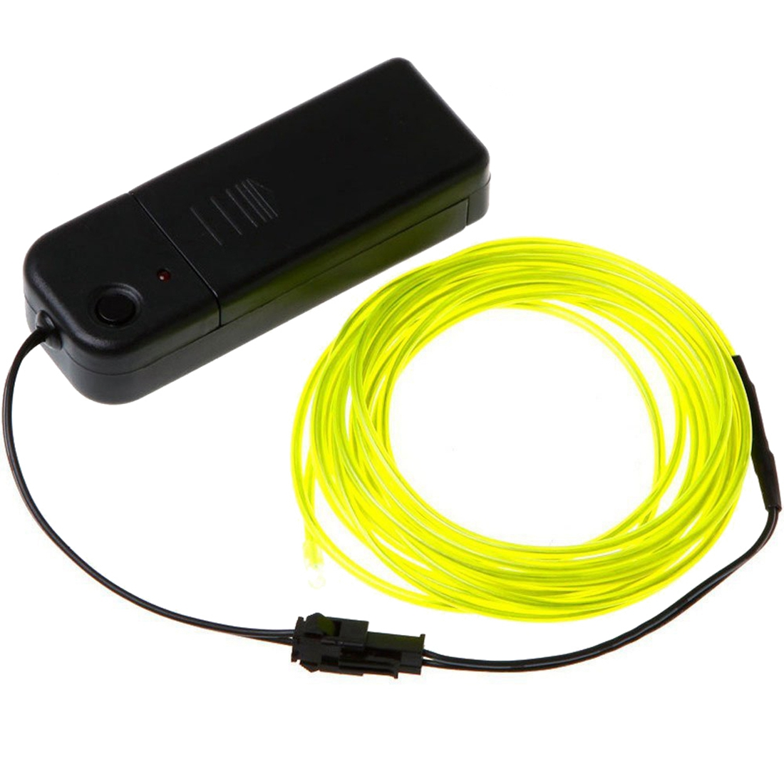 Neon Glowing Electroluminescent Wire el Wire With Battery Pack Controller bright Green,3m
