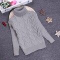 2016 Мальчики Девочки Свитер Детей 2-10Y Дети Unisex Зима Осень Пуловеры Вязание Водолазка Теплая Верхняя Одежда Свитера KC-1547-8
