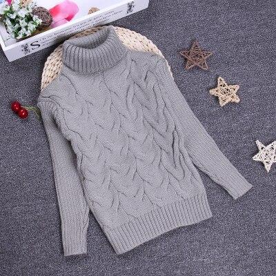 2016 Boys Girls Sweater Children 2-10Y Kids Unisex Winter Autumn Pullovers Knitting Turtleneck Warm Outerwear Sweaters KC-1547-8